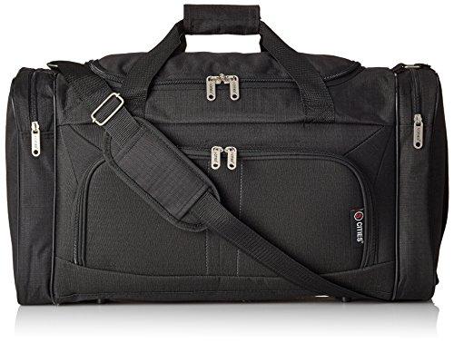 HOLD602 BLACK – 5Cities leicht Hand Gepäck Cabin Größe Sport Duffle Holdall, schwarz Schwarz