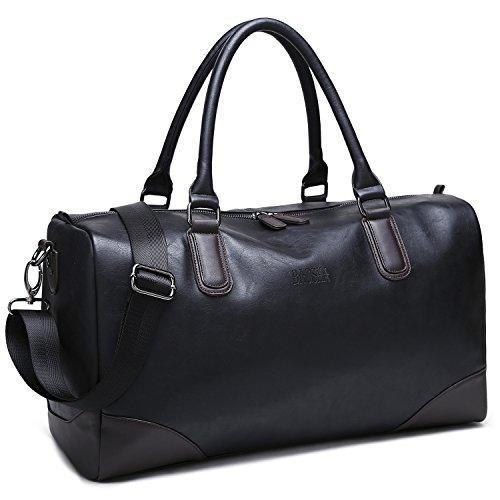 0b8c6873d3af9 BAOSHA HB-06 TOP PU Leder Unisex Reisetasche Handtaschetotes Weekender  Duffel Bag Sporttasche Für Herren und Damen Schwarz übergroß