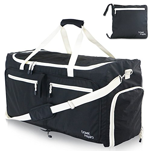 Travel Inspira – Large Foldable Duffel Bag XL For Packable Duffle Luggage Gym Sports
