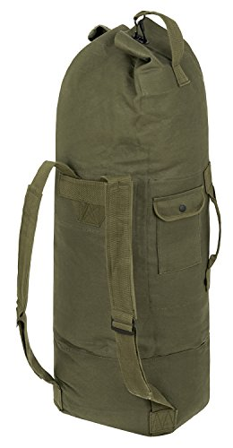 US Seesack Duffle Bag Transportsack mit Doppelgurt in vielen Farben Oliv 100 x 50