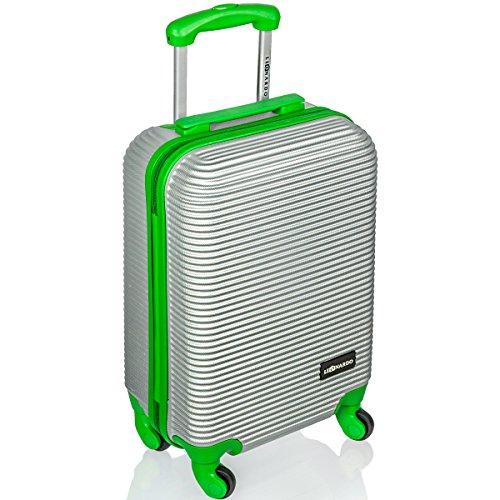 Premium Trolley Reise-Koffer Handgepäck mit Hartschale ca. 30 l Gruen