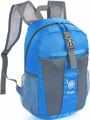 4a3630c67b1e9 Faltbarer Rucksack für Männer Frauen Kinder Leichter Reiserucksack  Tagesrucksack Blau