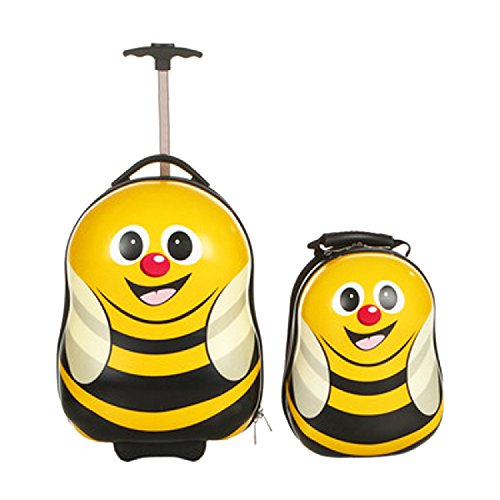 ferg 1x kinder trolley 1x rucksack bee kinder koffer. Black Bedroom Furniture Sets. Home Design Ideas