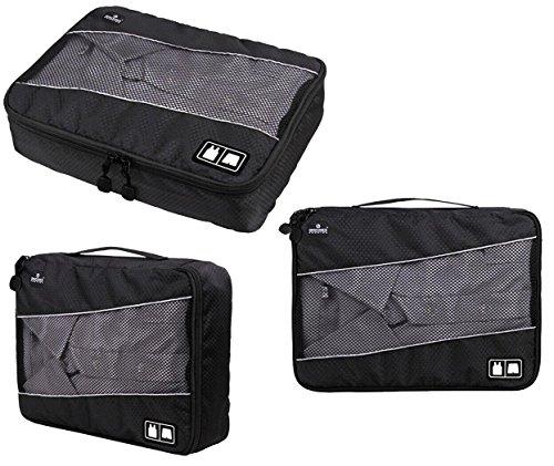 giancomics 3 pcs kofferorganizer packtaschen koffer w schtaschen kleidertaschen luggagebags. Black Bedroom Furniture Sets. Home Design Ideas