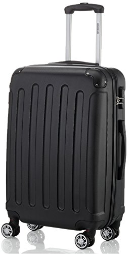 6c298e2f66 2045 Hartschale Koffer Trolley Reisekoffer einzelgröße XL-L-M in 10 Farben  XL, Schwarz
