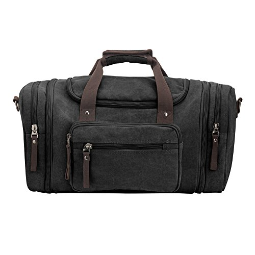 schwarz canvas reisetasche p ku vdsl canvas weekender tasche duffel travel bag handgep ck