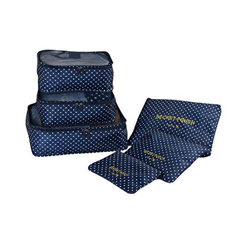 sch nes leben 6 teilig reise aufbewahrungstaschen koffertaschen packtaschen f r kleidung schuhe. Black Bedroom Furniture Sets. Home Design Ideas
