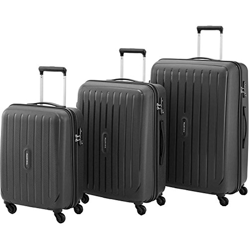 travelite uptown 3 pcs koffer set 75 cm 113 liters schwarz 72240 01 yrrak. Black Bedroom Furniture Sets. Home Design Ideas