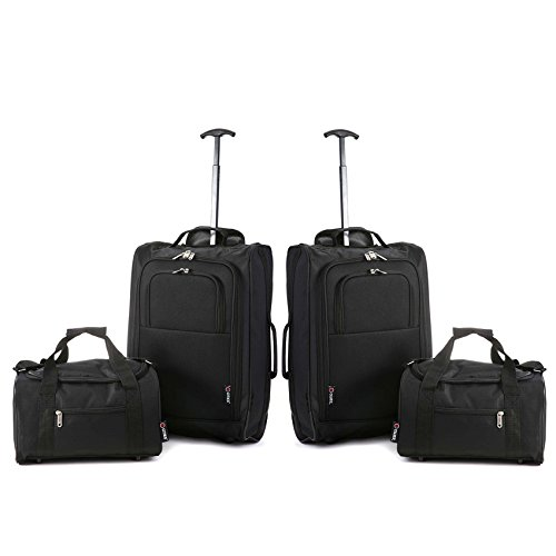 carry on both koffer 54 cm 42 liters schwarz black 5. Black Bedroom Furniture Sets. Home Design Ideas