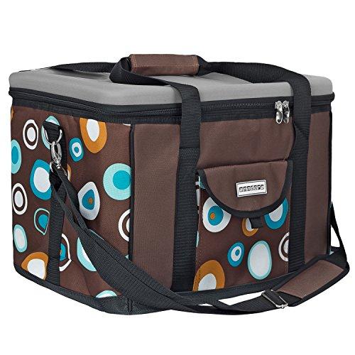 k hlbox isoliertasche picknicktasche anndora k hltasche xl braun hellblau 40 liter yrrak. Black Bedroom Furniture Sets. Home Design Ideas