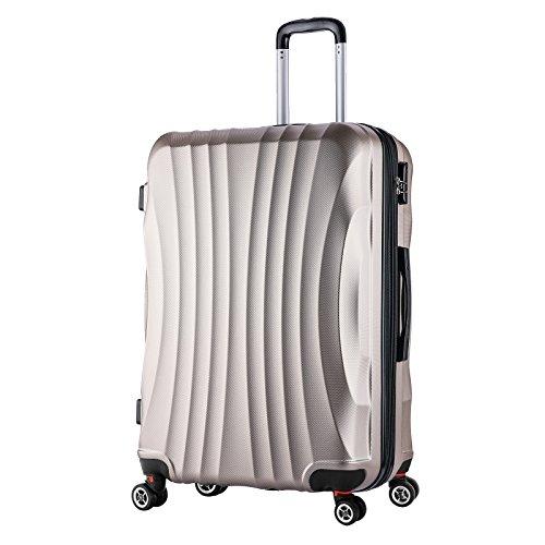 woltu rk4213ch xl reise koffer trolley hartschale 4. Black Bedroom Furniture Sets. Home Design Ideas