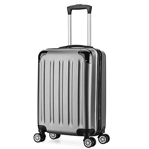 trolleys 55 cm reisekoffer hartschale 4 rollen handgep ck ultraleicht abs 40l in 6 farben. Black Bedroom Furniture Sets. Home Design Ideas