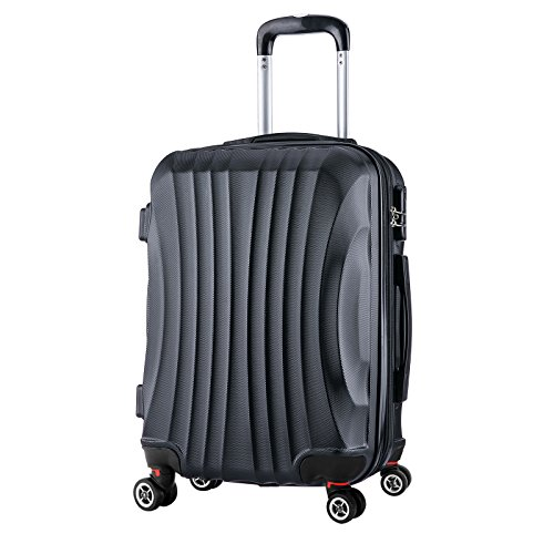 woltu rk4213sz m reise koffer trolley hartschale 4 rollen. Black Bedroom Furniture Sets. Home Design Ideas