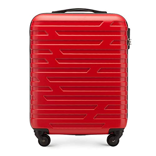 JR WITTCHEN A-Line I Collection Laptop Rollkoffer, 54 cm, 38 Liter, Rot