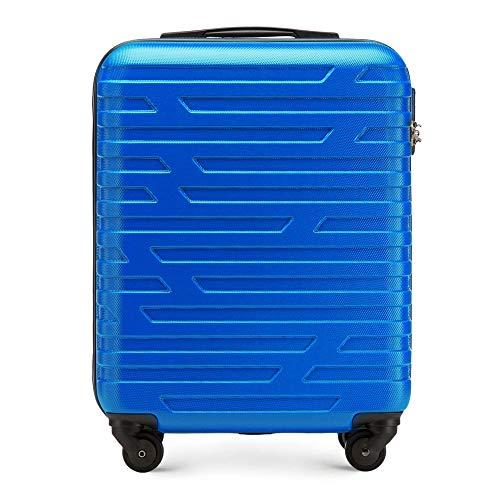 Stabiler Koffer-Trolley Handgepäck von WITTCHEN ABS 54 x 39 x 23 cm 2.8 kg 38 L Blau | Bordgepäck Bordcase 56-3A-391-90