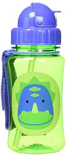 Skip Hop Zoo Trinkflasche für Kinder Trinklernflasche, Dinosaurier Dakota, mehrfarbig