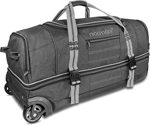 normani Reisetasche mit Rollen und großem Stauraum – mit Trolley-Funktion Farbe Grau Größe 90 Liter