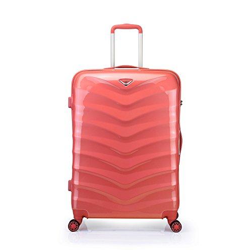 Verage Seagull Handgepäck Koffer Kiss Coral S-48 cm 19″ Trolley Suitcase Reisekoffer Spitzenmarken-Qualitätsware ABS+PC, 4 Doppelräder, Kabinenkoffer für alle Fluggesellschaften