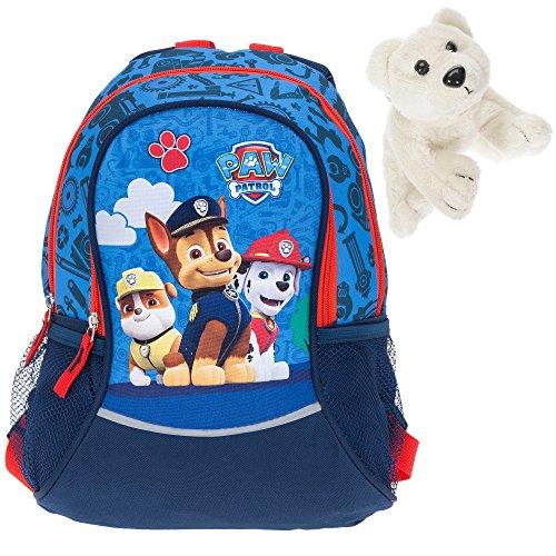 Kinderrucksack Fabrizio Paw Patrol Chase Blau 20562-5000 Rucksack für Jungen + Eisbär Chase Blau 5000