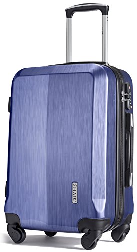 Shaik® Professional, SIN Größe M Handgepäck Boardgepäck Koffer   32 Liter   Größe L34 x B23 x H50cm   Gewicht: 3,26 kg   TSA Schloss   SH009 Blau
