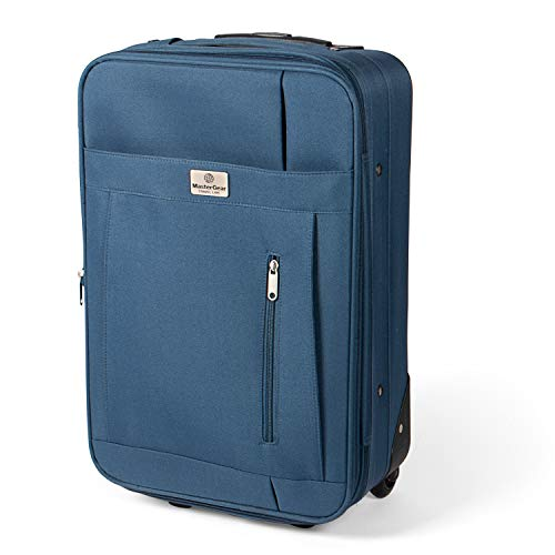 MasterGear Kabinen-Trolley mit Handgepäckmaßen: 55 x 35 x 20 cm für ALLE Fluggesellschaften, blau