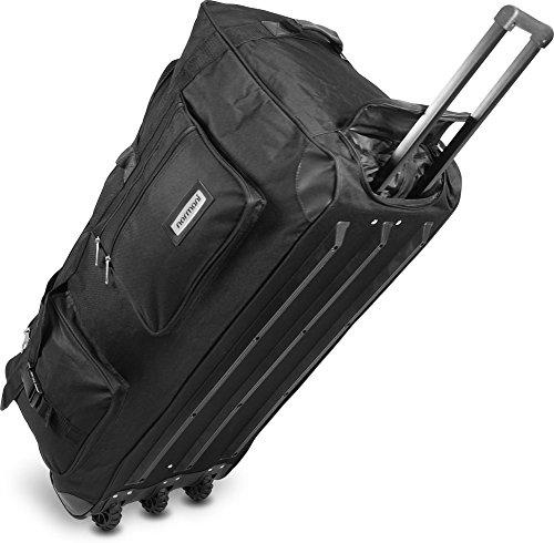 normani reisetasche jumbo big travel mit rollen riesige xxl v4 5 generation schwarz 150 liter. Black Bedroom Furniture Sets. Home Design Ideas