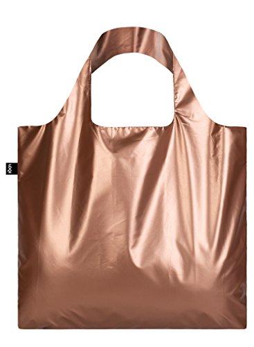 METALLIC, Matt Rose Gold. Bag: LOQI BAG: Ich wiege 55 g. Ich kann 20 kg tragen. Ich bin wasserabweisend. Ich bin aus Polyester