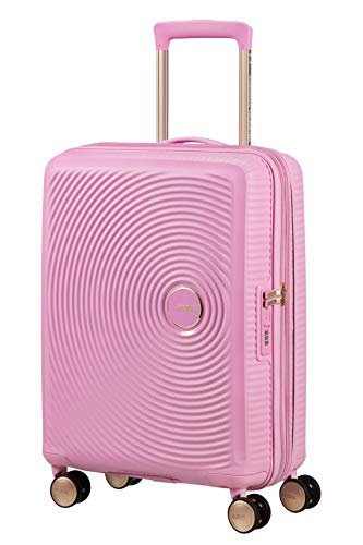 American Tourister Soundbox – Spinner Small Expandable Koffer, 55 cm, 41 Liter, Pearl Pink/Gold