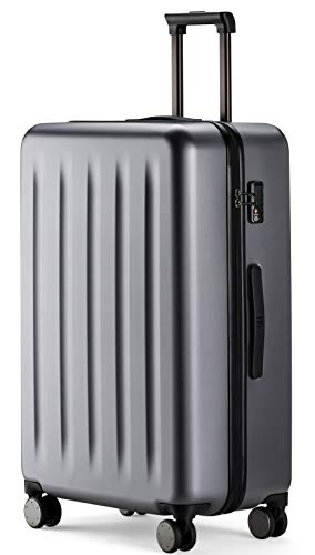 90FUN großer Koffer und Sets I Leichter Hartschalen Trolley mit TSA-Zahlenschloss Grau, S