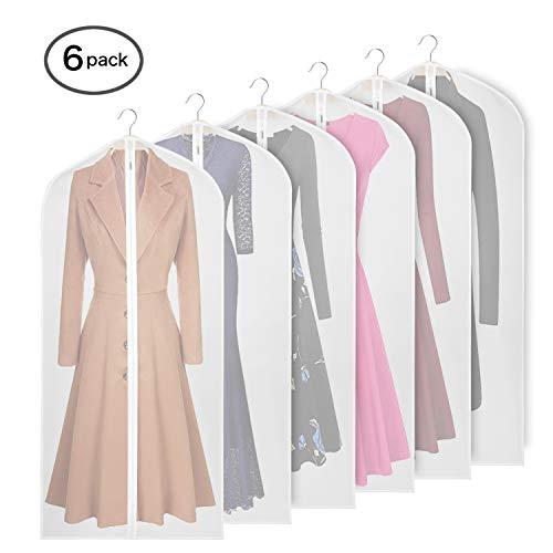 Erstklassiger Schutz Aufbewahrung für Anzüge und Kleider 6PCS – KEEGH Kleidersack 152 x 60 cm Kleidersäcke, Hochwertiger Anzugsack/Kleiderhülle aus atmungsaktivem Material