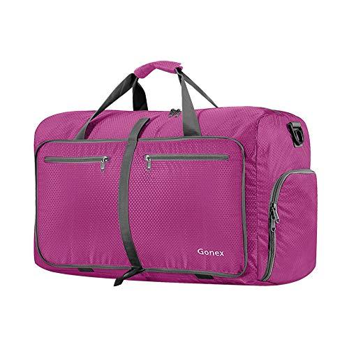 Gonex Leichter Faltbare Reise-Gepäck 40L, Farbe: Rosa, Duffel Taschen Uebernachtung Taschen/Sporttasche für Reisen Sport Gym Urlaub