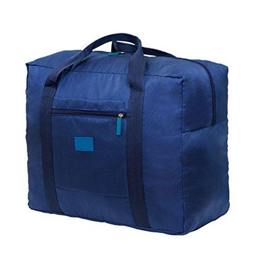 Cestval Reisetasche Kleidertasche Wasserdichte Aufbewahrungstasche Nylon Tasche für Reise Große Kapazität Faltbare Bag Storage Wandern Sport Urlaub Outdoor Blau