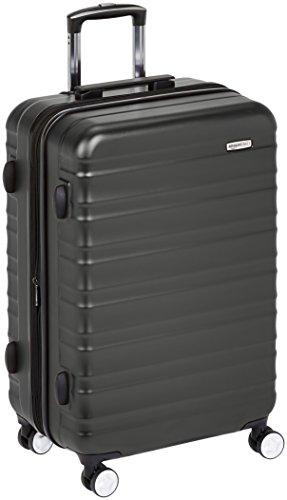 AmazonBasics – Hochwertiger Hartschalen-Trolley mit eingebautem TSA-Schloss und Laufrollen, 78 cm, Schwarz