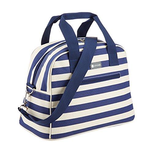 KitchenCraft CMSTRPBAG Coolmovers Blue Stripe Holdall-Style Cool Tasche, 11,5 Liter – blau / weiß