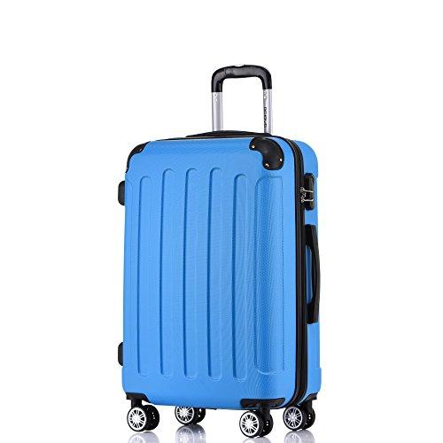 BEIBYE Zwillingsrollen Hardcase Reisekoffer Koffer Trolleys Hartschale in XL-L-M in 14 Farben Türkis, Handgepäck 55cm