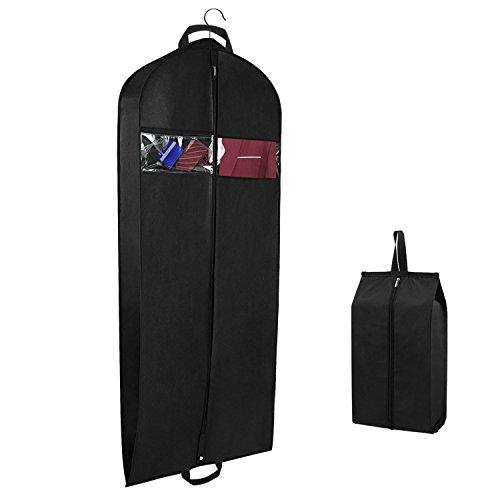 Syeeiex Atmungsaktive Reisen Kleidersack Kleiderhülle Anzugsack für Kleid, Hemden mit Schuhbeutel und Sichtfenster Robust Reißverschluss 152cm x 60cm x10cm