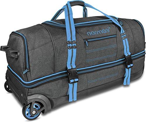 mit Trolley-Funktion Farbe Blue Größe 90 Liter – normani Reisetasche mit Rollen und großem Stauraum