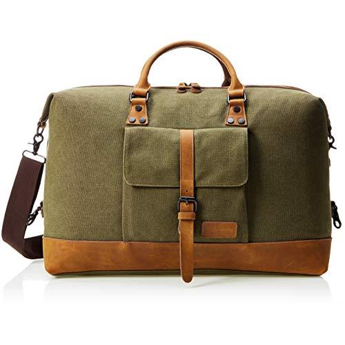 Reisetasche, Canvas, Olivgrün – AmazonBasics