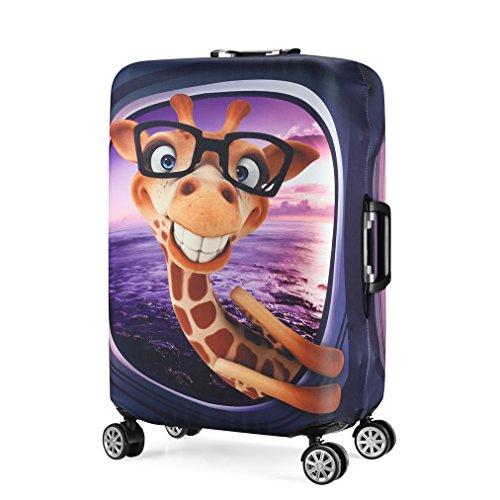Wasserfest Print Trolley Case Schutzhülle für 26/27/28 Gepäck Staubschutz Waschbar Reise Koffer Protector L Giraffe