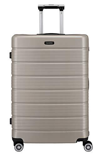 Travelite Funktionaler, smarter, starker, sportlich-eleganter Business-Reisekoffer Hartschalen Trolley Soho Koffer, 77 cm, 106 Liter, Champagner