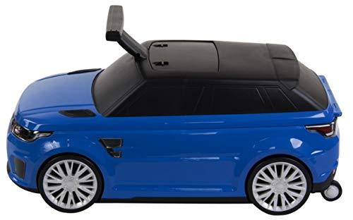 Rutschauto und Koffer 2 in1 RANGE ROVER SVR LIZENZ Land Rover Kinderfahrzeug Kinderauto Koffer für Kinder und Gepäck für Kinder NEW!! BLAU