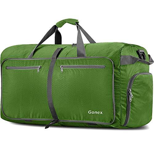 Gonex Leichter Faltbare Reise-Gepäck 150L, Farbe: Rot, Duffel Taschen Uebernachtung Taschen/Sporttasche für Reisen Sport Gym Urlaub
