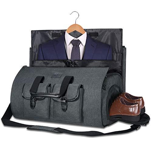 Uniquebella Anzugtasche, Kleidersack Reisetasche Anzugsack Umhängetasche für Herren,Flugzeug, Reisen, Bussiness,Fitness Anzug Garment Gym Bag, Sporttasche für Männer Schwarz 2