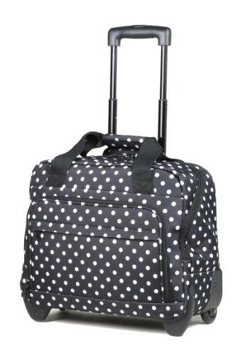 Members Essential On-Board Leichte Laptoptasche auf Rädern 45 x 37 x 20cm – Schwarz/Weiße Punkte, nicht angegeben
