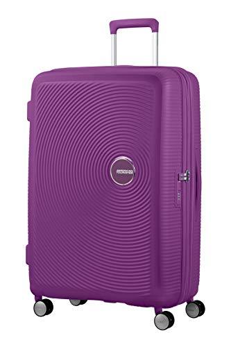 Spinner Large Expandable Koffer, 77 cm, 110 Liter, Purple Orchid – American Tourister Soundbox