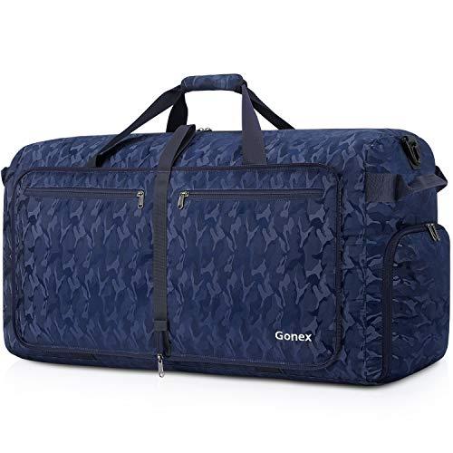 Gonex Leichter Faltbare Reise-Gepäck 150L, Farbe: Wald Blau, Duffel Taschen Uebernachtung Taschen/Sporttasche für Reisen Sport Gym Urlaub