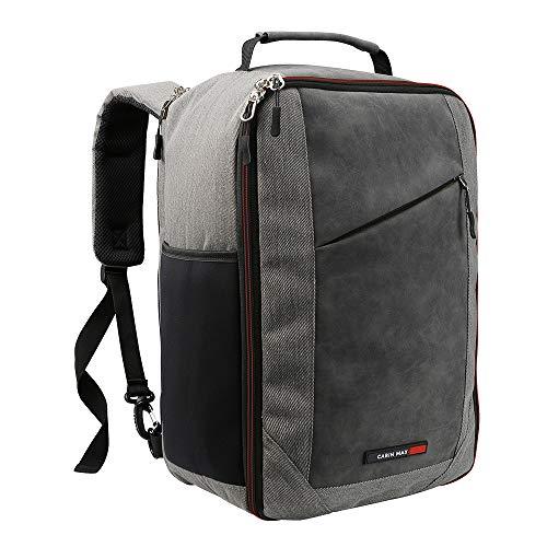 Ryanair Premium Handgepäck 20 Liter Schultertasche 40 x 20 x 25 cm abschließbarer Rucksack mit Organisationsfach und nützlichem Tablet Fach – Cabin Max Manhatten Stowaway XL