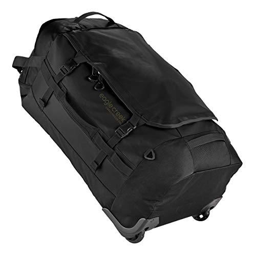 Eagle Creek Cargo Hauler Wheeled Duffel 110L, faltbare Reisetasche mit Rollen, großes Duffle Bag, abrieb- & wasserbeständiges TPU-Gewebe, Rucksacktragegurte, Jet Black, XL