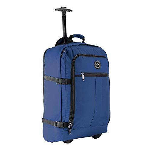 44L Rollengepäck Atlantic Blue – Cabin Max Lyon Flugzugelassenes Handgepäck Rucksack Tasche