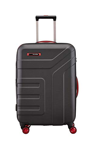 """Travelite Koffer-Serie """"VECTOR"""" von travelite: Robuste Hartschalen-Trolleys und Beautycases in 4 Trendfarben Koffer, 70 cm, 79L, Schwarz"""
